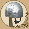 Norman Nasal Helm with Brass
